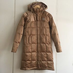 The North Face goose down hooded coat